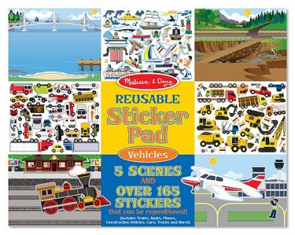 Reusable stiker book Vehicles