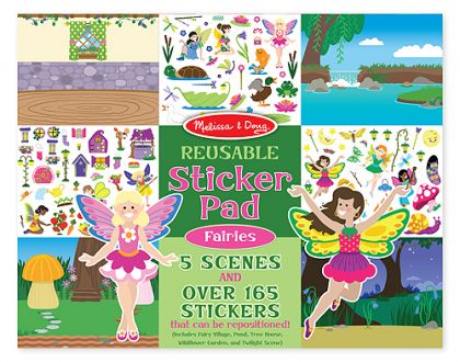 Reusable stiker book Faires